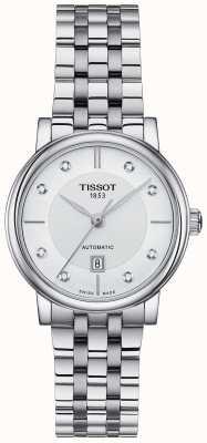Tissot Automatisches Edelstahl-Kristall-Set für Damen von Carson T1222071103600