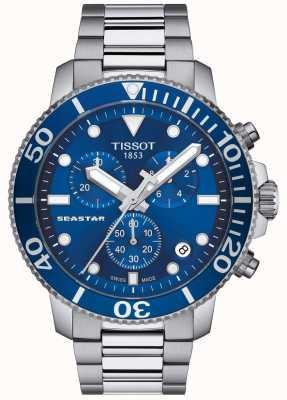 Tissot Seastar 1000 Quarz Chronograph blau / Edelstahl T1204171104100