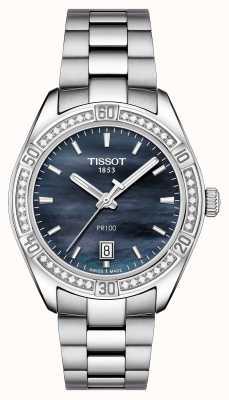 Tissot Womens pr 100 sport chic 36mm Edelstahl blau T1019106112100
