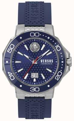 Versus Versace Herrenarmband aus kalk bay Edelstahl mit blauem Zifferblatt VSP05020018