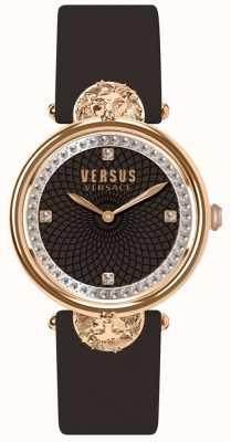 Versus Versace Victoria Harbour Burgunder Lederband für Damen SP33150018