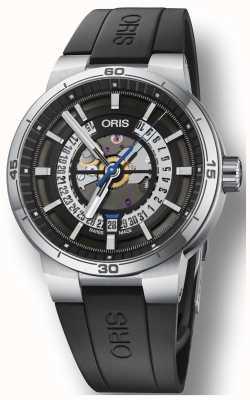 Oris Williams tt1 Motor Silikonkautschuk Armband Skelett Zifferblatt 01 733 7752 4124-07 4 24 06FC