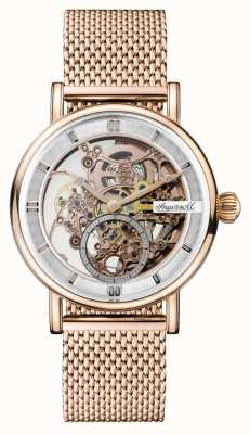 Ingersoll Mens Herold automatische Rose Gold PVD vergoldet Mesh-Armband I00406