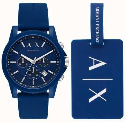 Armani Exchange Herren Sportuhr Geschenkset AX7107
