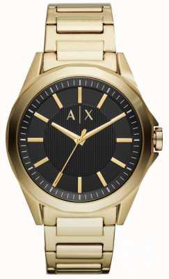 Armani Exchange Herren Kleid Uhr Gold PVD überzogen AX2619