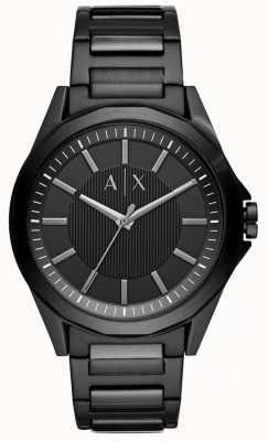Armani Exchange Mens schwarzer Edelstahl AX2620