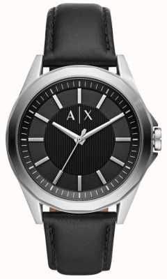 Armani Exchange Herren Kleid Uhr schwarzen Riemen AX2621