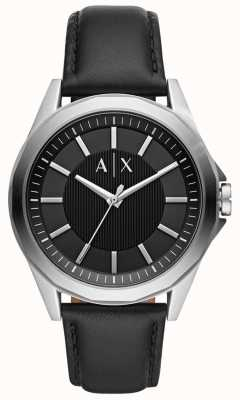 Armani Exchange Herrenuhr | schwarzes Lederband | AX2621