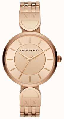Armani Exchange Damen Kleid Uhr Roségold AX5328