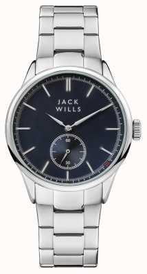 Jack Wills Mens Forster blaues Zifferblatt Edelstahlarmband JW004BLSL