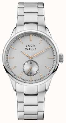 Jack Wills Mens Forster Silber Zifferblatt Edelstahlarmband JW004SLSL