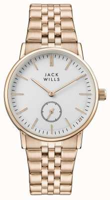 Jack Wills Damen Buckley weißes Zifferblatt Roségold PVD Armband JW007WHRS