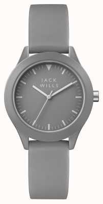 Jack Wills Damenuhr graues Zifferblatt grau Silikonband JW008GYGY