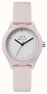 Jack Wills Damenuhr weiß rosa Silikonarmband JW008PKPK