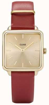 CLUSE La Garconne goldene und rote Uhr CL60009