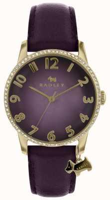 Radley Damen lila Uhr mit Goldgehäuse RY2726