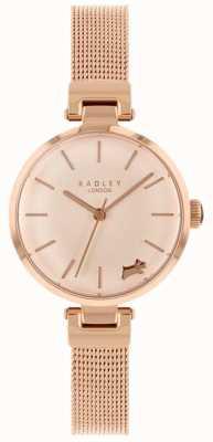 Radley Damenuhr Roségold Gehäuse Mesh-Armband RY4360