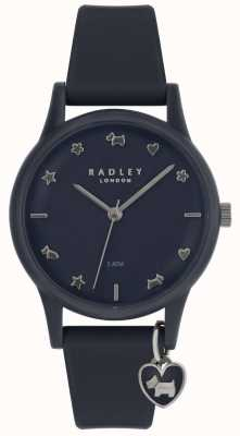 Radley Damenuhr Silikonarmband mit silbernen Markern RY2691