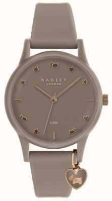 Radley Damen Silikon Uhr mit Roségold RY2694