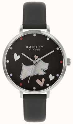 Radley Damenuhr schwarzer Hund Tintenstreifen RY2679