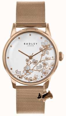 Radley Ladies rose gold plattiert Edelstahl-Mesh-Armband zu sehen RY4348