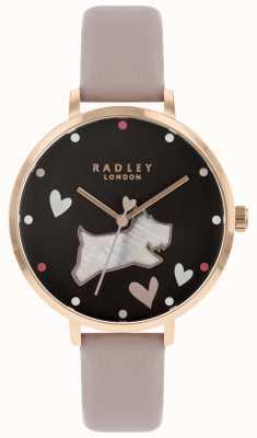 Radley Damen große Perlmutt Hund schwarz Zifferblatt RY2678