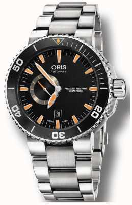 Oris Aquis kleine zweite Datum automatische Edelstahl 01 743 7673 4159-07 8 26 01PEB