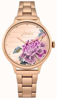 Joules Damen flora roségold pvd armband floral zifferblatt JSL002RGM