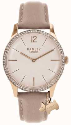 Radley Pinkfarbenes Lederarmband für Damen RY2524