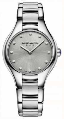 Raymond Weil Damenarmband aus rostfreiem Edelstahl mit Diamanten 5132-ST-65081