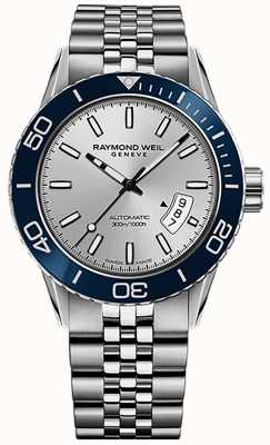 Raymond Weil Freelancer Automatik Taucher Armband aus Edelstahl 2760-ST4-65001