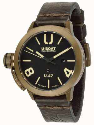 U-Boat Classico U-47 Bronze automatisch braunes Lederband 7797