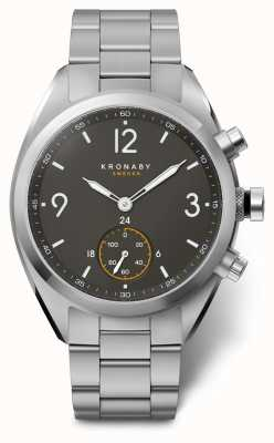 Kronaby Mens Apex 41 Bluetooth Edelstahl schwarz Zifferblatt Smartwatch A1000-3113
