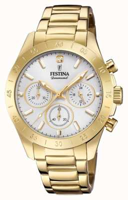 Festina Womens Freund Chronograph Gold PVD F20400/1