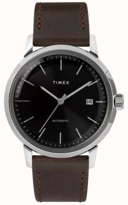 Timex Marlin automatisch | braunes Lederband | TW2T230007U