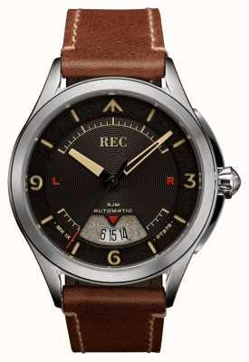 REC Spitfire automatisches braunes Lederband RJM-02