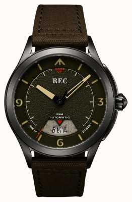 REC | pt879 mk ix spitfire | Leinwandband | Automatikuhr | RJM-03