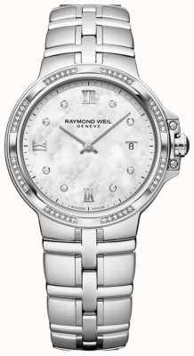 Raymond Weil Parsifal Damenquarzklassiker | 56 Diamant | Perlmutt 5180-STS-00995
