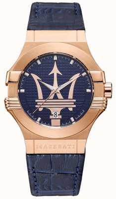 Maserati Herren Potenza 42mm | vergoldetes Gehäuse | blaues Zifferblatt R8851108027