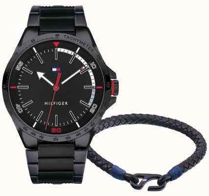 Tommy Hilfiger Herrenuhr und Armband Geschenkset 2770029