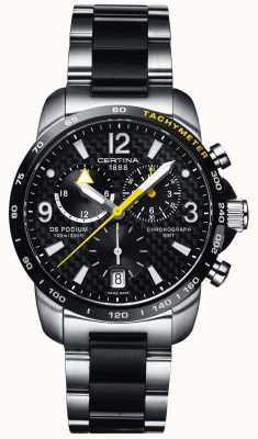 Certina | ds podium | gmt chronograph | Stahl schwarz Carbon | C0016392220701