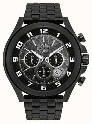 Harley Davidson Herren aus dem Nachtreiter schwarz Edelstahl Armband 78B146