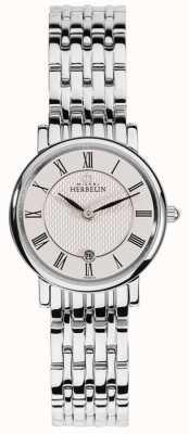 Michel Herbelin Womens epsilon | weißes Zifferblatt | Armband aus Edelstahl 16945/B01