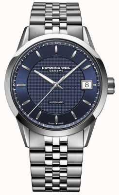 Raymond Weil Männer | Freiberufler dunkelblau | automatische Uhr 2740-ST-50021