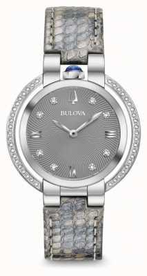 Bulova Rubaiyat-Diamant-Lederband für Damen 96R218