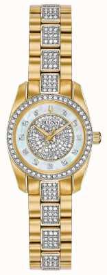 Bulova Zweifarbiges Damen-Armband aus Kristallglas 98L241