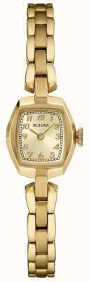 Bulova Frauen vergoldeter Quarz 97L155