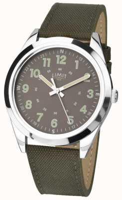 Limit Herren | Militärstiluhr | khaki grünes Armband & grünes Zifferblatt 5951