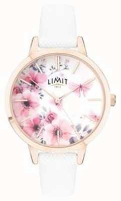 Limit | Damen-Gartenuhr | rosafarbenes und weißes Blumenzifferblatt | 60021