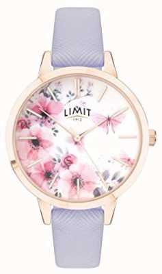 Limit | Damen-Gartenuhr | rosa & weißes Zifferblatt | lila strp 60022